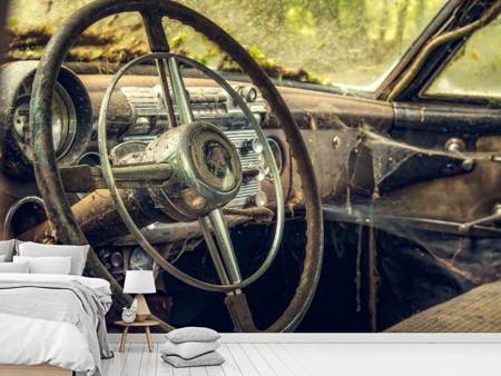 Photo Wallpaper Disintegrated vintage car