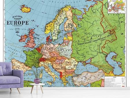 Fotobehang Map Europe