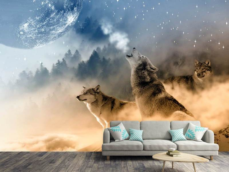 Photo Wallpaper The world of wolves