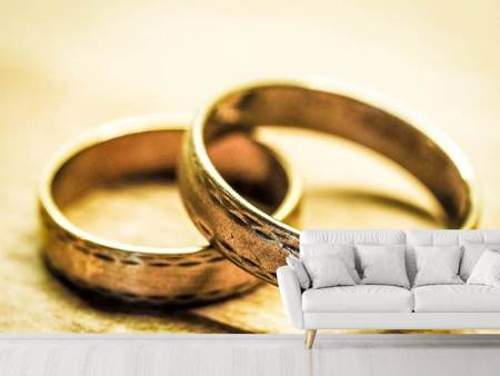 Photo Wallpaper Antique wedding rings