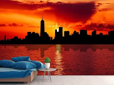 Photo Wallpaper NYC skyline at dusk