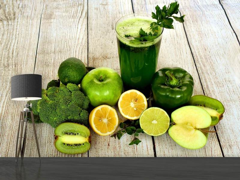 Fotobehang Ingredients green smoothie