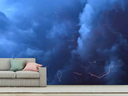 Photo Wallpaper Wild thunderstorm