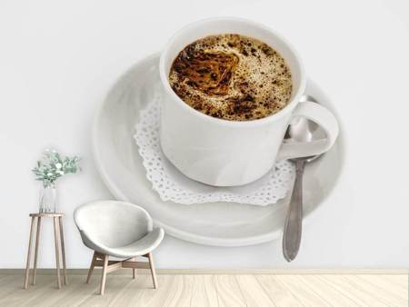 Photo Wallpaper Fresh cup of coffee