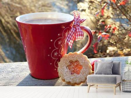 Photo Wallpaper The Christmas coffee