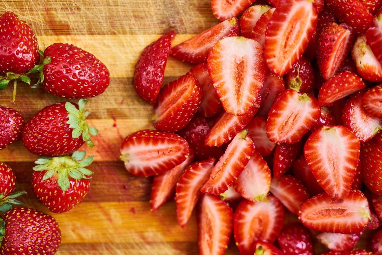 Fototapete Frische Erdbeeren