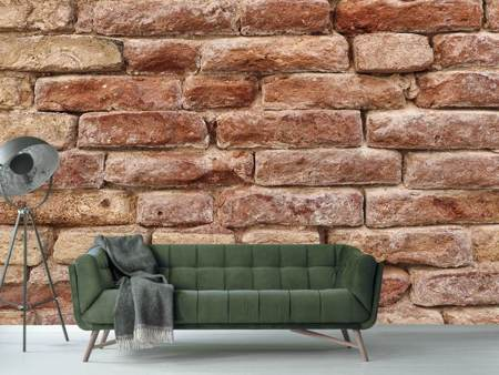 Photo Wallpaper Rustic stone wall