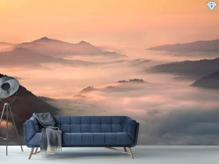 Photo Wallpaper Foggy Morning In The Mountains