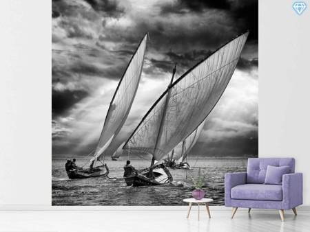 Photo Wallpaper Sailboats And Light