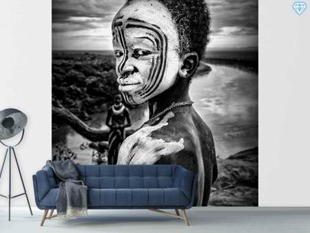 Photo Wallpaper A Boy Of The Karo Tribe Omo Valley