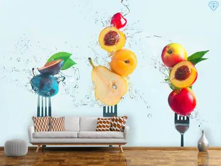 Photo Wallpaper Making Fruit Salad