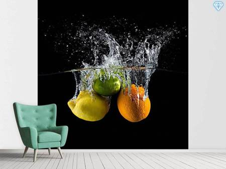 Photo Wallpaper Citrus Splash
