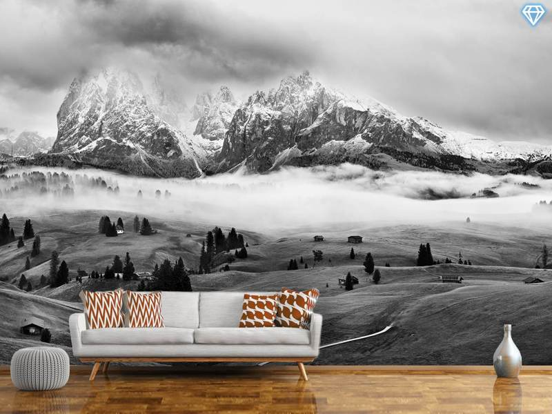 Papier peint photo Foggy Dolomites