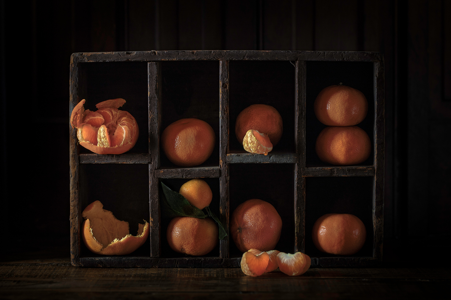 Photo Wallpaper Still Life With Oranges