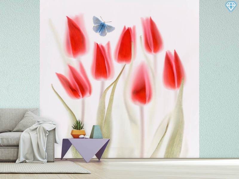 Fotomurale Red Tulips