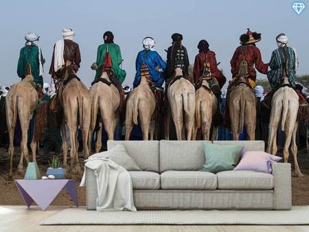 Photo Wallpaper Watching The Gerewol Festival From The Camels - Niger