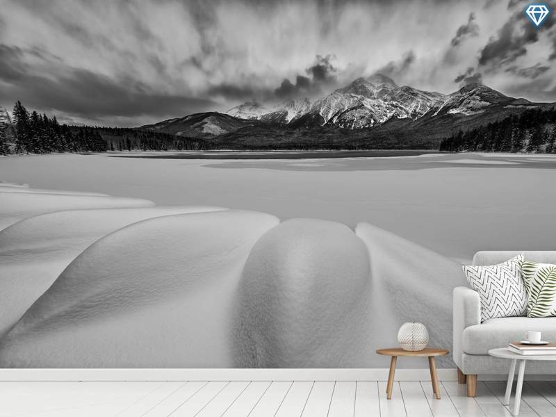 Photo Wallpaper Pyramid Lake In Winter