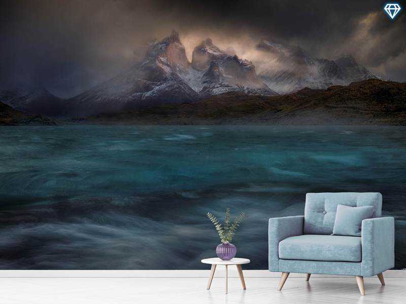 Photo Wallpaper Stormy Winds Over The Torres Del Paine