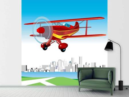 Fotobehang Flying Aircraft