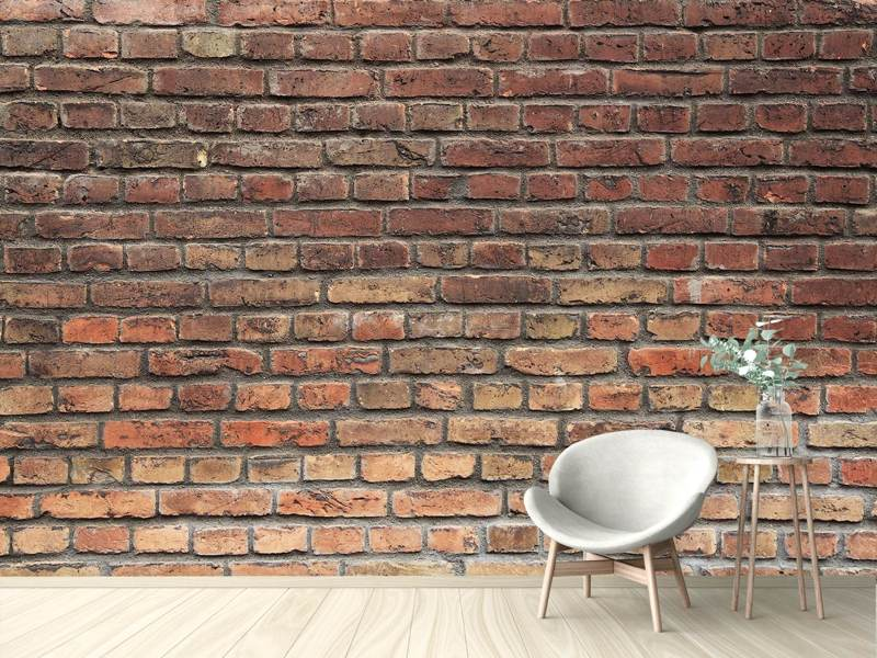 Fotobehang Brown Brick Wall