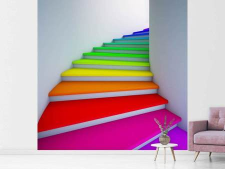 Fotobehang Colorful Stairs