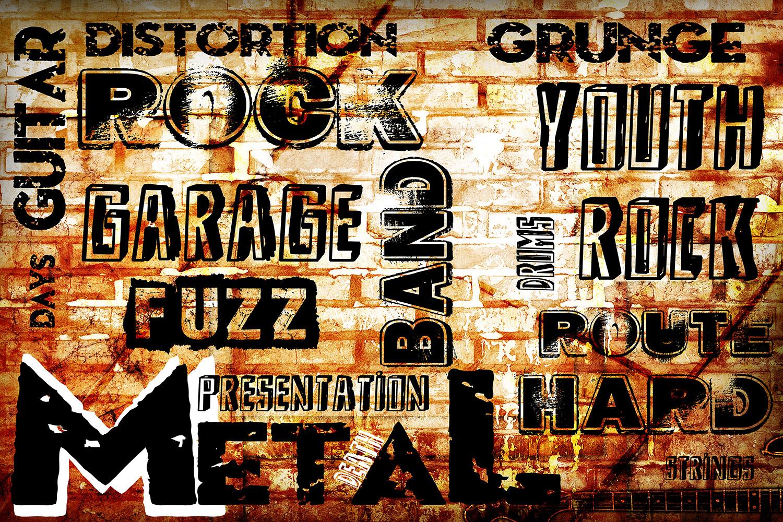 Fototapete Rock im Grungestil