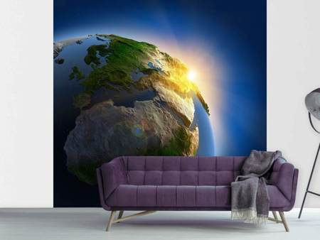 Photo Wallpaper Sun And Earth