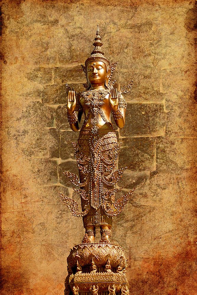 Fototapete Goldene Buddha-Statue