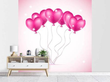 Photo Wallpaper Heart Balloons