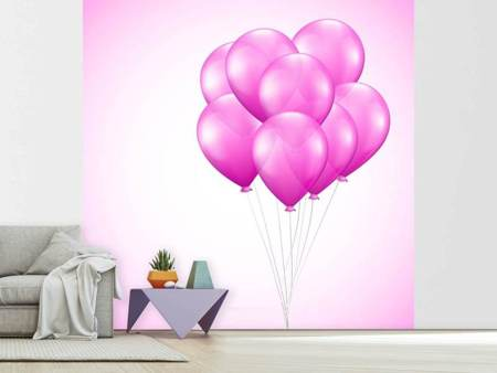 Photo Wallpaper Pink Balloons