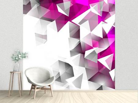 Photo Wallpaper 3D Crystals Pink