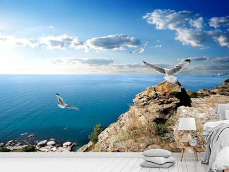 Fotobehang The Seagulls And The Sea