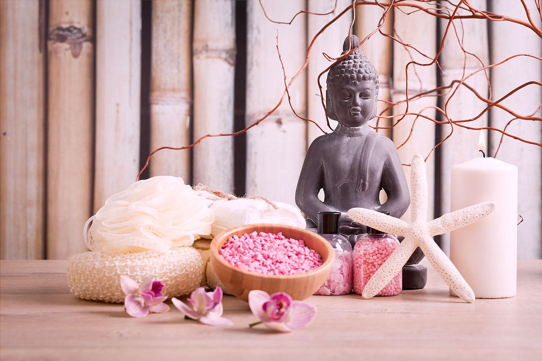 Fototapete Spa + Buddha