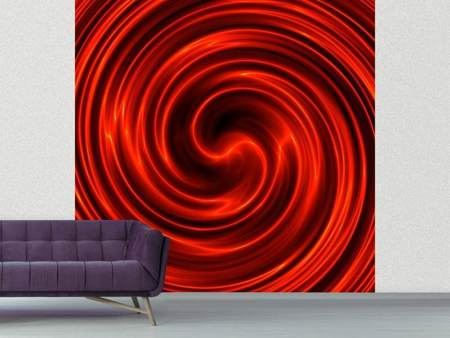 Fototapet Abstract Red Whirl