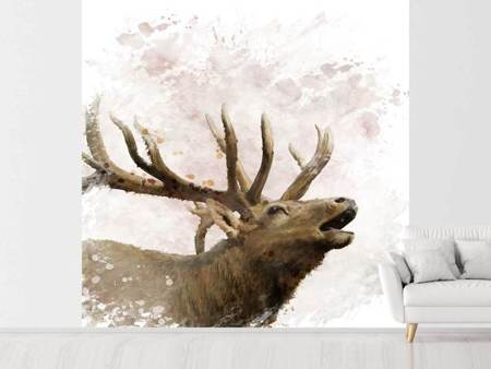 Photo Wallpaper Elk Painting
