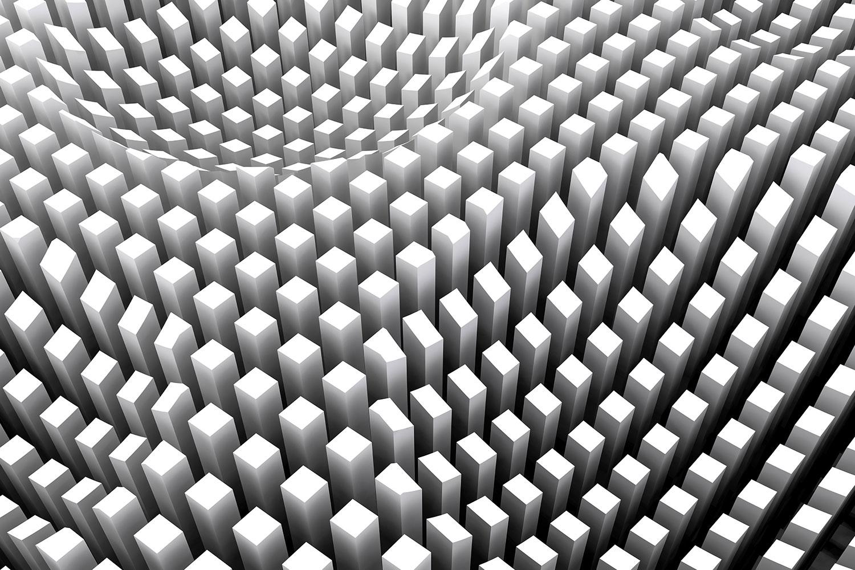 Fototapete 3D-Rasterdesign