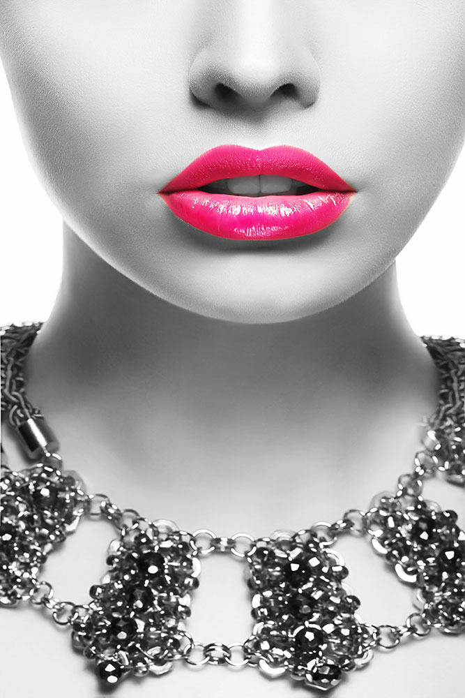 Fototapete Rote Lippen