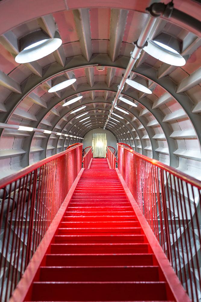 Fototapete Futuristische Treppe