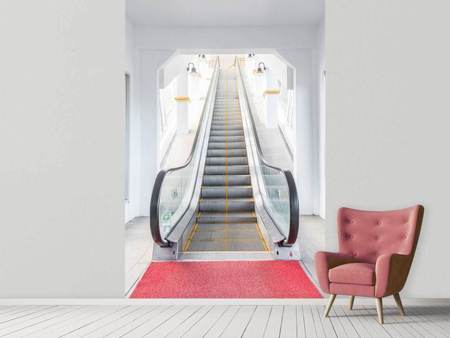 Fotobehang Escalator