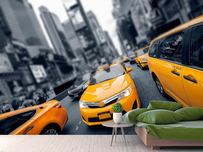 Photo Wallpaper Taxi In NYC
