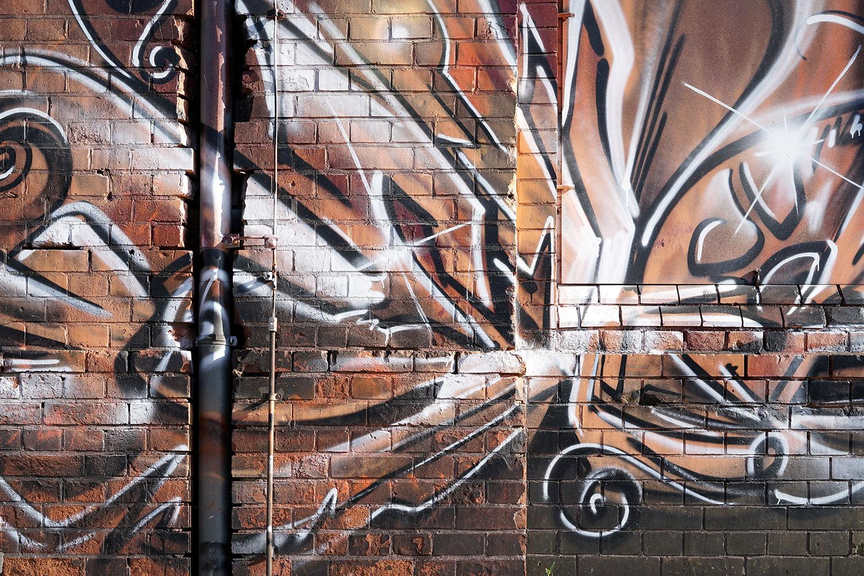 Fototapete Graffiti Mauer