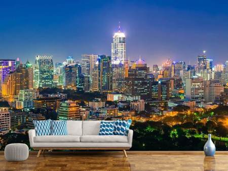 Photo Wallpaper Skyline One Night In Bangkok