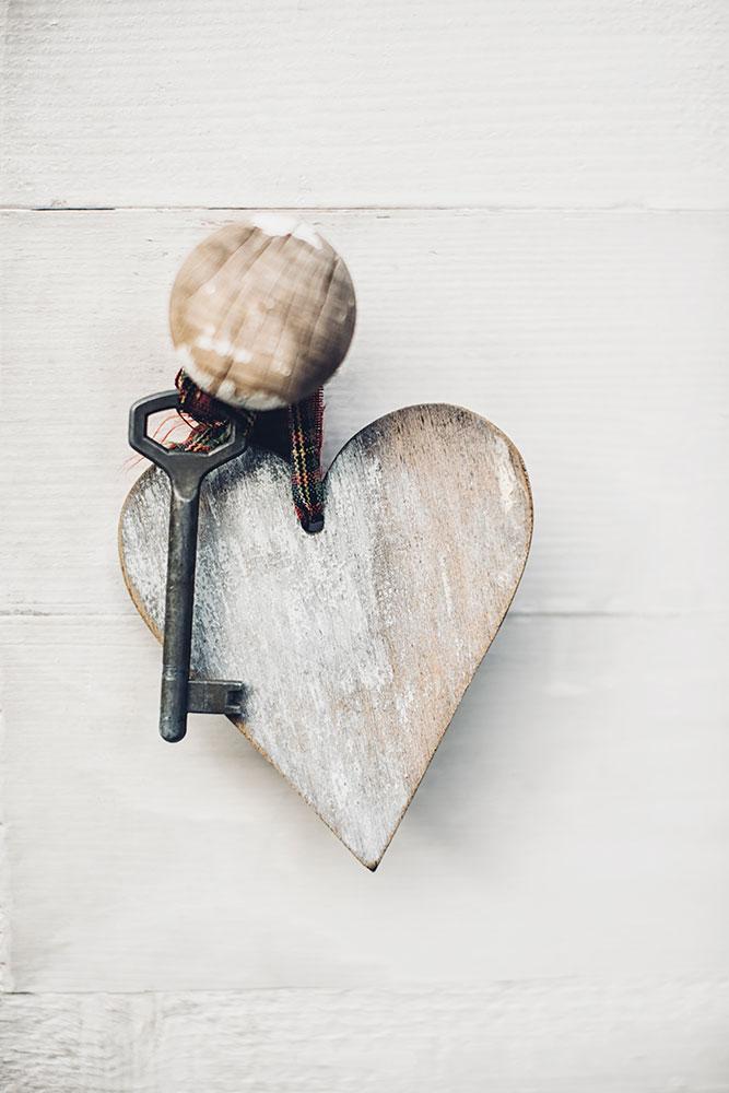 Fototapete Herzschlüssel